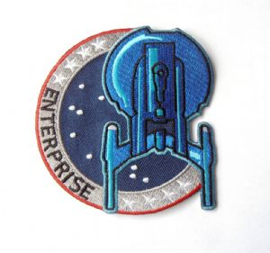Star Trek classic Enterprise uniform logo crew patch - new stock